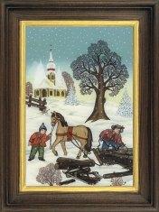 Pferdserie hoch Winter