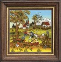Pferdserie klein quadratisch Herbst
