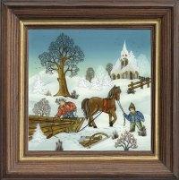 Pferdserie mittel quadratisch Winter