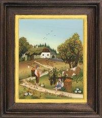 Postkartenserie hoch groß Herbst