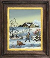 Postkartenserie hoch groß Winter