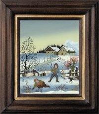 Postkartenserie hoch mittel Winter