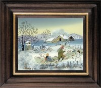 Postkartenserie mittel Winter