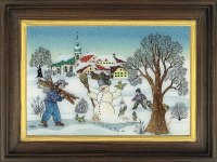 Schneemannserie Winter
